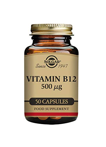 Solgar Vitamin B12 500 µg Vegetable Capsules - Pack of 50