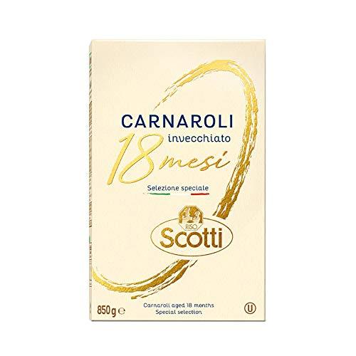 Reis Scotti - Carnaroli-Reis, 18 Monate gereift - Risotto-Reis, Naturreis fertig in 18 Minuten - 850 gr