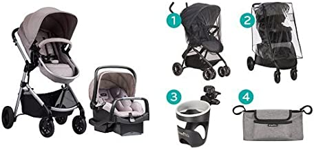 Evenflo Pivot Modular Travel System with Stroller Accessories Starter Kit