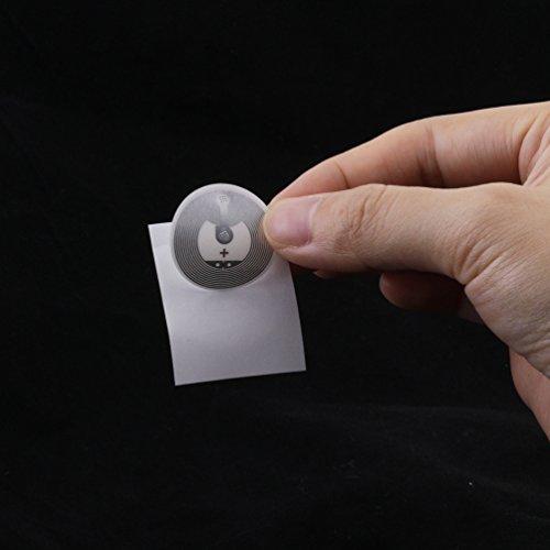 Timeskey NFC 50 x NFC Tags   NXP Chip NTAG216   888 Byte Speicherkapazität  Selbstklebende Runde und Transparente Etiketten   NFC 216 Sticker Kompatibel Mit Android Smartphone Apps