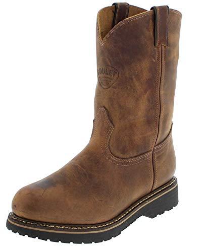 Boulet Stiefel 4381 Herren Work Boots mit Stahlkappe (41 (8 US), Golden (WEITE EEE))