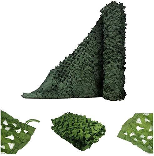 LF- Camouflage Net Filet de Camouflage antisatellite aérienne Anti-contrefaçon Shading Net Green Mountain Net Outdoor Sun Net Ombrage Tissu Isolation Thermique (Size : 6x8M)