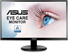"""Asus VA229HR 21.5"""" Monitor Frameless 1080P 75Hz IPS Eye Care HDMI VGA with 178° Wide Viewing Angle,Black"""
