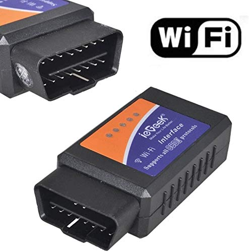 ieGeek WiFi Wireless Mini OBDII Auto Coche, OBD2 Escáner Herramienta de Análisis de Diagnostico CAN-BUS, Lector de Código Diagnóstico a Bordo Para Apple iPhone iOS Windows Android Tablet Smartphone