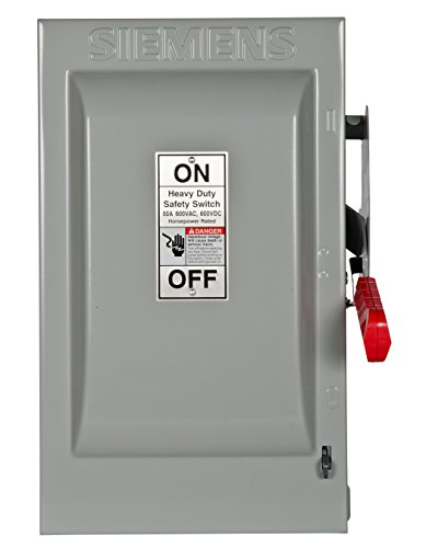Siemens HNF362 60-Amp 3 Pole 600-volt 3 Wire Non-Fused Heavy Duty Safety Switches, COLOR