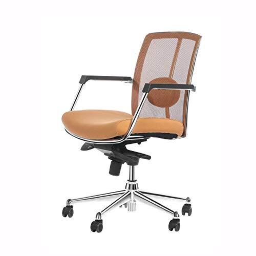 Zjnhl Household Necessities/Computer Chair Home Swivel Chair Ergonomic Chair Office Chair Mesh Chair Mobile Lift Chair Durable Comfort Lounge Chair Best Gift (Color : Brown, Size : 9860CM)