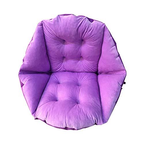 TSSCY Schaukelstuhl Kissen, Weich Hängesessel Kissen Draussen Drinnen Stuhlauflage Verdicken Sie Sitzkissen Korb Hängematte Sitzkissen-lila 40x48cm(16x19inch)
