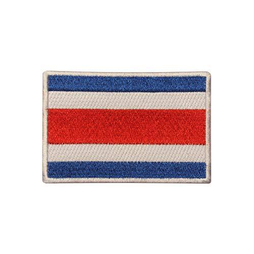 Parche bordado bandera Costa Rica coser