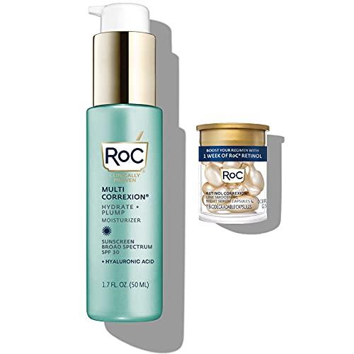 ROC Multi Correxion Hyaluronic Acid Anti Aging Moisturizer with Sunscreen SPF 30 (1.7 oz) + RoC Retinol Capsules (7 CT)