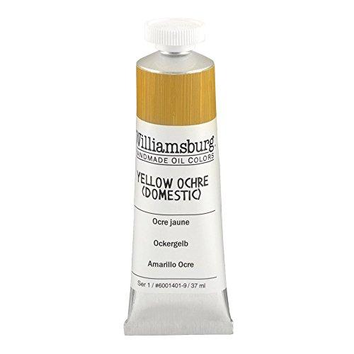 Williamsburg Handmade Oil Paint - Yellow Ochre Domestic, 37 ml tube