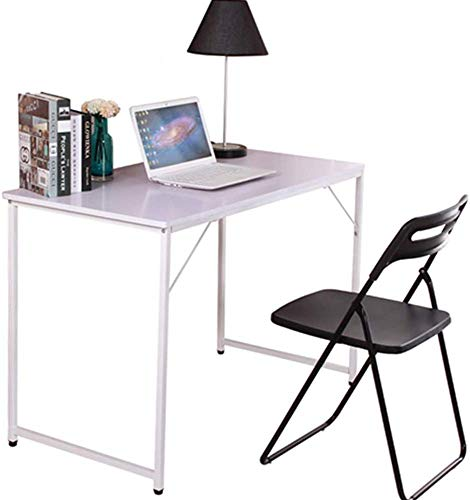 BOJU Small White Laptop Computer Desk Table Home Office Modern Compact Workstation for Corner Writing Desk Table (White 2)