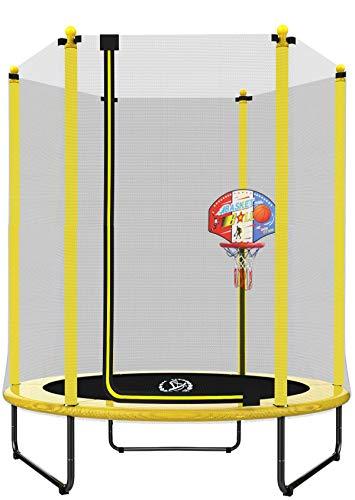 LANGXUN 5FT (150cm) Indoor/Outdoor Trampolin Für Kinder/Kinder Beste Geburtstagsgeschenke Gute Übungsgeräte (φ150*H180)
