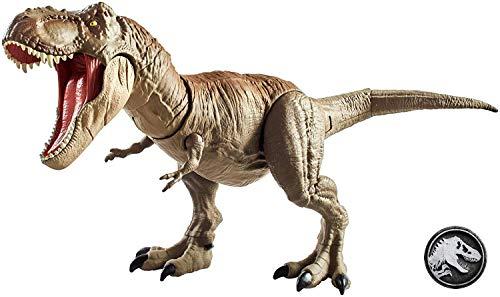 Jurassic World Toys T-Rex Mega-Ataque, dinosaurio de juguete (Mattel GCT91)