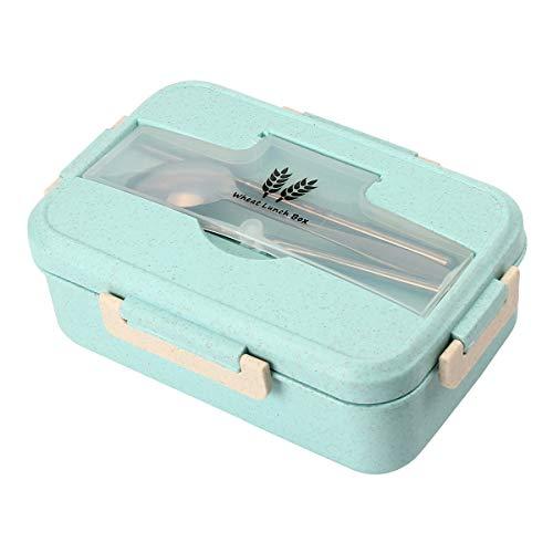 Kitchnexus – Fiambrera de 3 compartimentos para comida, microondas, bento, picnic, para niños y adultos