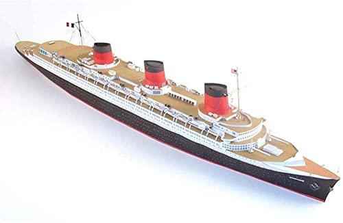 WENJZJ Kit de Modelo de Barco Retro de Crucero de Normandía 1/400 DIY, Modelo de Barco de Papel ensamblado, Regalo Artesanal para Adultos y niños de 78 cm
