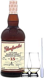 Glenfarclas 15 Jahre Single Malt Whisky 0,7 Liter  2 Glencairn Gläser und Einwegpipette