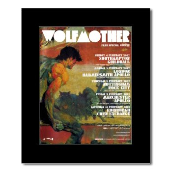 Wolfmother – UK Tour 2007 mattiertes Mini-Poster – 31,8 x 28 cm