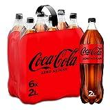 Coca-Cola Zero Azúcar - Refresco de cola sin azúcar, sin calorías - Pack 6 botellas 2L