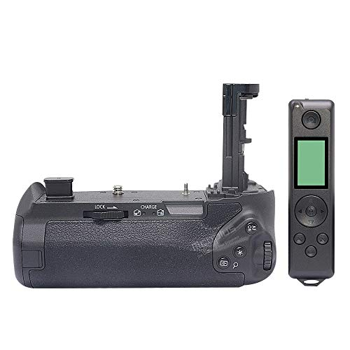 Mcoplus as BG-E22 Multi-Battery Power Pack BG-EOS R Battery Grip with 2.4G Hz 100-Meter Wireless Remote Control for Canon EOS R Camera(Not for RP/R5/R6) Use LP-E6N/E6NH Battery(Battery not Include)
