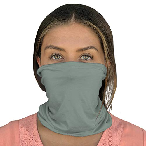 Happyluxe Face Cover, Neck Gaiter, Breathable Mask, UPF 50+, Made in the USA (Sage Green)