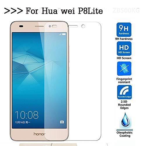 SUNMINGY Vidrio Templado 9H para Huawei P8 Lite Ale L21 Cl00 L02 L23 Ul00 L21 L04 Protector De Pantalla Sklo Film Funda para Huawei P8Lite-Vidrio Templado