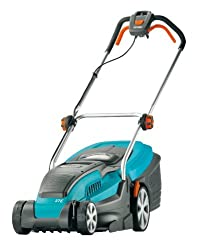 GARDENA Electric Lawnmower PowerMax 37 E, cutting width of 37 cm, motor power of 1.600 Watt, double-hardened knife with precision ground for excellent cutting results (4075-20)