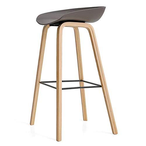 JIEER-C vrijetijdsstoel barkruk houten poten hoge stoel PP zitting keuken ontbijtstoel modern Simple Cafe Pub tafel robuust Blue