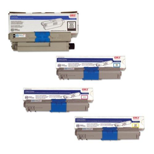Okidata Part# 44469701, 44469701, 44469701, 44469801 Toner Cartridge Set (Oem)