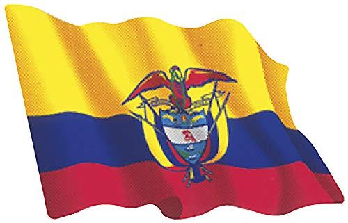 Artimagen Aufkleber Flagge Wellen Kolumbien klein 65 x 50 mm