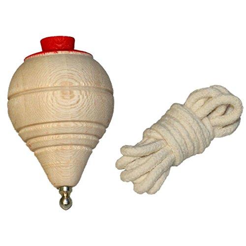 Artema - Peonza de madera clásica con cuerda