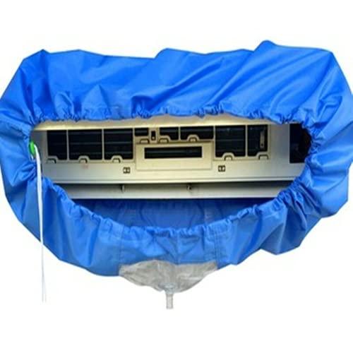 HGGF 1 pz condizionatore d'aria impermeabile copertura di pulizia polvere lavaggio pulito sacchetto di protezione condizionatore d'aria coperture blu