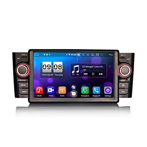 ERISIN Autoradio Android 10.0 da 7 pollici per Fiat Punto Linea Supporto GPS Sat Nav Carplay Android Auto DSP Bluetooth Wifi DAB + TPMS 8-Core 4GB RAM + 64GB ROM