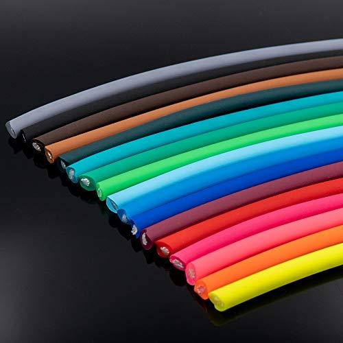 Bio-Leine Biothane Meterware Rund - Durchmesser Ø 6mm und 8mm I schmutz- und wasserabweisend - bis zu 30m lang | 15 Farben auswählbar