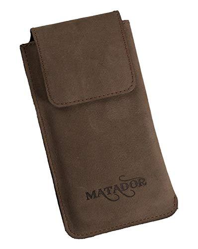 MATADOR Lederhülle Ledercase Gürtel Tasche Schlaufe Huawei P30 / P40 PRO Gürteltasche Magnetverschluss (Tabacco Braun)