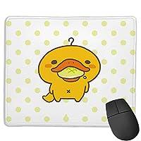 おしゃれ ゲーミングマウスパッド 携帯性 Pcマット 防水 滑り止 縁をかがる ゲーミングマウスパッド かものはしかも (3) かわいい マウスパッド 耐久性が良い マウス用パッド