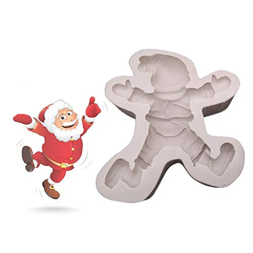 NAIXUE Accesorios hechos a mano de Navidad, moldes de silicona de Papá Noel, decoraciones de Navidad, herramientas para hornear chocolate para formas de pastel
