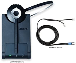 Jabra PRO 920 Mono Wireless Headset with EHS Aastra 14201-10 Cable, Bundle for Astra & Other Phones