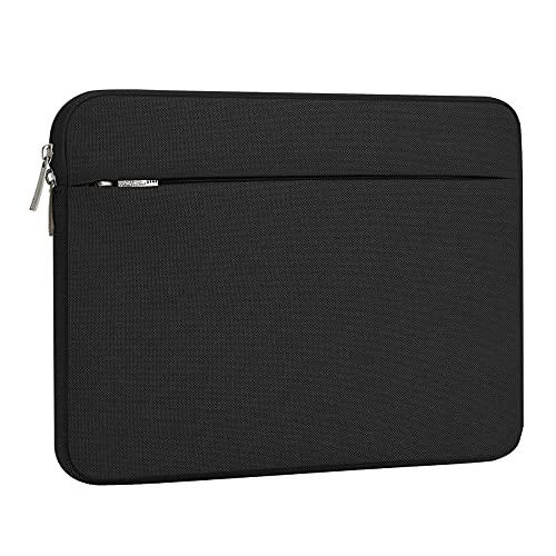 AtailorBird Housse de Protection Ordinateur 15.6', Pochette PC Portable Ultrabook Sacoche Laptop Compatible 15.6 Pouces - Noir
