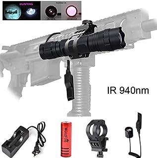 WindFire 940nm IR Illuminator LED Flashlight, Infrared Flashlight Torch Light, Zoomable Adjustable Focus Handheld Flashlig...