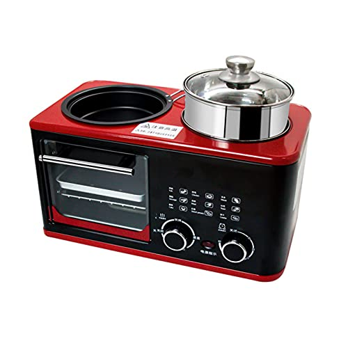 Horno Eléctrico Para el Hogar, Mini Horno Microondas, Pan de Comida Nutritiva Sándwich Maquina de Desayuno Hogar Utensilios De Cocina Máquina de Desayuno de Sándwich