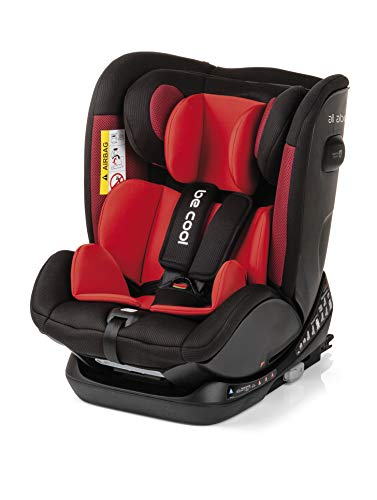 Be Cool All Aboard - Silla de coche grupo 0+ 1 2 3, de 0 a 36 kg, con isofix y top tether, arnés de 5 puntos, color lavastone