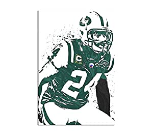 MIAOMIAO Wall Art Home Decor Canvas Print Sports Poster Darrelle Revis Pictures Painting Wall Decor (24x36inch,Unframed)