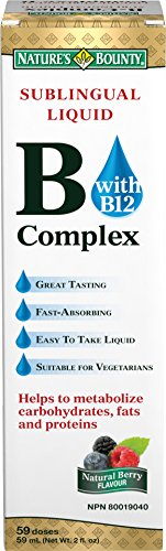 Nature's Bounty Vitamin B Complex Sublingual Liquid 2 oz (Pack of 3)