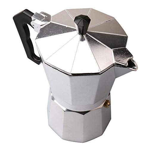 Lowest Prices! ZHCSS Portable Aluminum Moka Coffee Pot, 600ML 12CUP