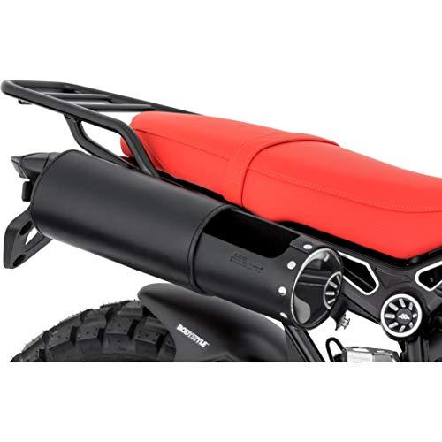 Stoverinck Hecktasche Motorrad Motorradtasche Lederwerkzeugrolle Twin Edelstahl 2,5 Liter, Unisex, Chopper/Cruiser, Ganzjährig, schwarz