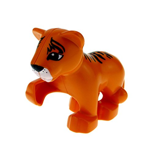 1 x Lego Duplo Tier Baby Tiger orange Safari Zoo neue Form groß Katze Löwe Set 45012 9218 5635 54300cx4