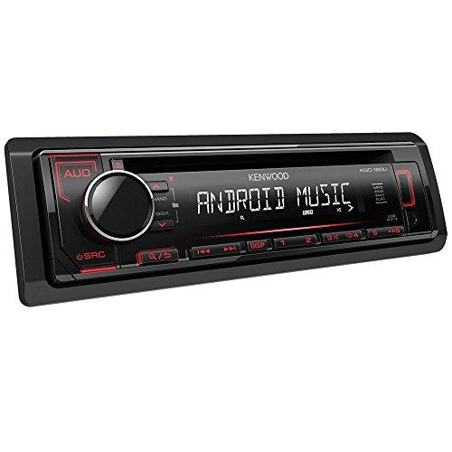 Kenwood KDC-120UR CD-Receiver mit frontseitigem USB/AUX-Eingang schwarz