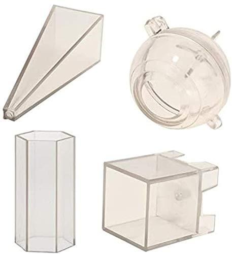 N /A Plastic Gemengde vormen Kaarsen Maken Mallen Mould Voor DIY Kaars Maken Ambacht benodigdheden 4 Stuks