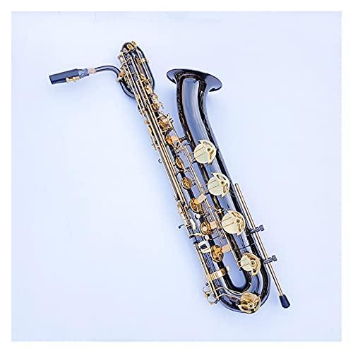 Saxophone Black Nickel Gold Baritone Saxophone in E Flat Brass Saxophone