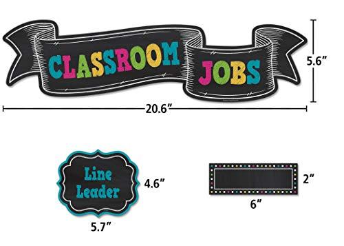 Teacher Created Resources Chalkboard Brights Classroom Jobs Mini Bulletin Board (TCR5653) Photo #2
